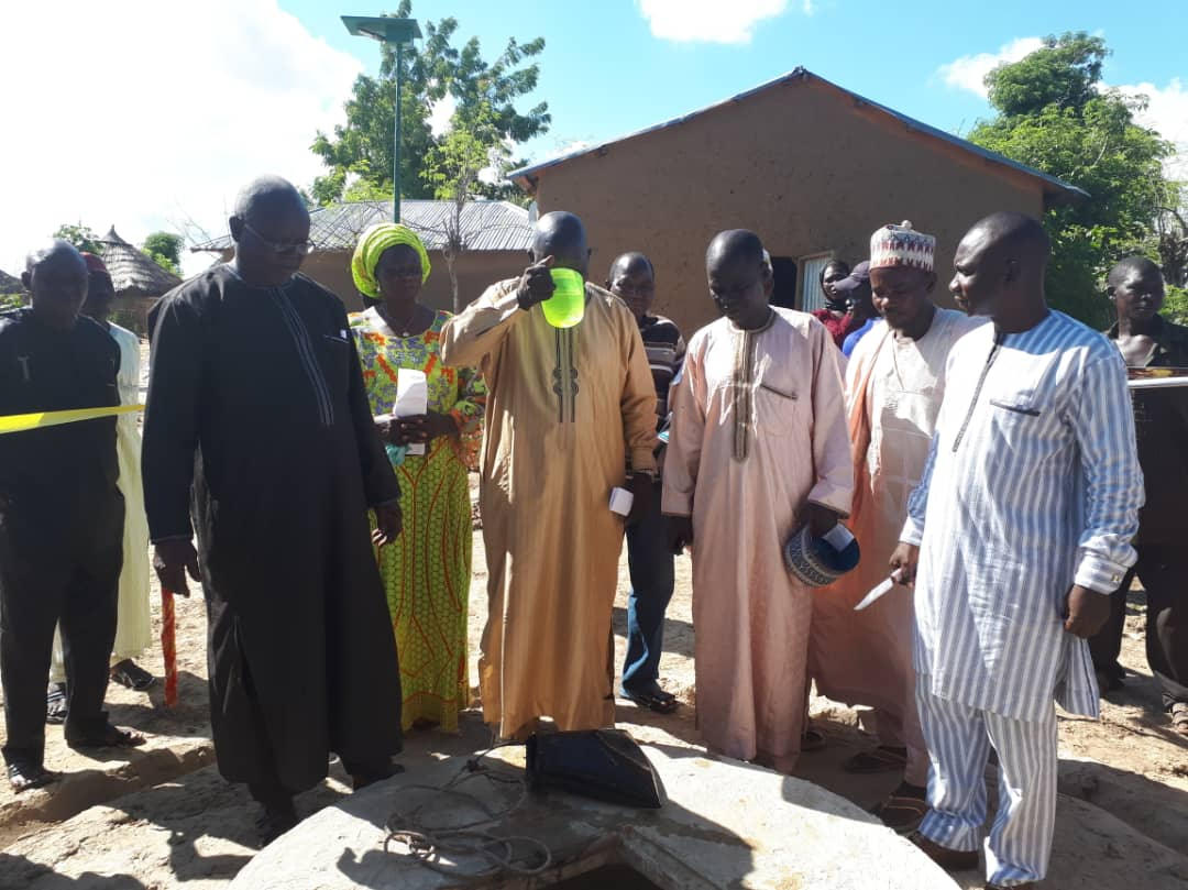 At the Commissioning of the Concrete Well Constructed in Pandayajabbi Community in ZOne 4